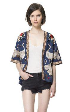 Image 2 of KIMONO SLEEVE JACKET TOP from Zara