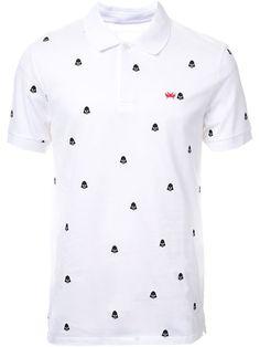 NEIL BARRETT pixel monster print polo shirt. #neilbarrett #cloth #shirt