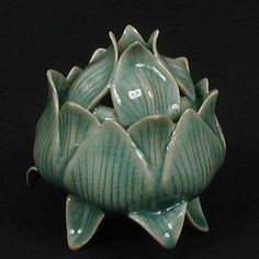 Lotus Incense Burner ... probably Korean celedon, but love the design for my Kodo board!