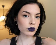 Kontrol  Prettiest dark purple lipstick ever.