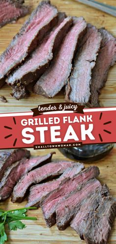 Learn how to cook with this Grilled Flank Steak recipe! This easy summer grilling recipe is seared to perfection in a balsamic vinegar-based marinade. It's tender, juicy, and flavorful! It's also the best 4th of July idea! Flank Steak Recipes, Beef Recipes, Yummy Recipes, Easy Family Meals, Easy Meals, Family Recipes, Summer Grilling Recipes, Grilling Ideas, Marinated Steak