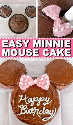 Learn how to Make a Minnie Mouse Birthday Cake with a video from Soccer Mom Blog! This Minnie Mouse birthday cake is so easy to make and is so fun! If your child is having a Miniie Mouse or Disney themed birthday this year, then you have to try making this cake. #desserts #birthdaycake #cake #recipes #easy #minniemouse #disney Minni Mouse Cake, Minnie Mouse Rosa, Minnie Mouse Birthday Cakes, 3rd Birthday Cakes, Mickey Birthday, Minnie Mouse Cookies, Minnie Mouse Theme, Bolo Minnie, Minnie Cake