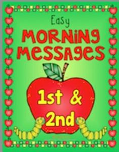 SEPTEMBER - Easy Morning Messages - 1st and 2nd Grade #TPT #Teach123 $Paid