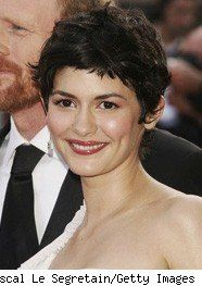Audrey Tatou with her Coco Chanel pixie cut.