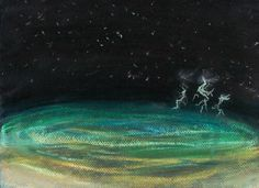 """Electric Waters""  Pastel, 9x12 in.  Sarah Szabo (2012)"