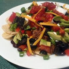 Taco Nachos Allrecipes.com- snacks for dinner night!