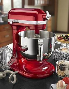 Whip up delectable treats with ease with the KitchenAid Pro Line Series Stand Mixer; available in four stylish colors and easily fitted for attachments to help you accomplish kitchen tasks.