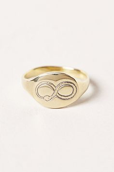 engraved ouroboros signet ring at anthropologie
