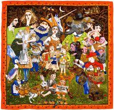Fairytales Hermès Silk Scarf: Shades of Orange   Vintage Carré   @vintagecarre   www.vintagecarre.com