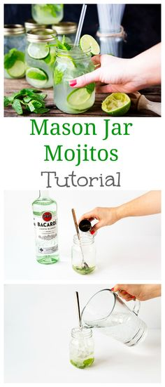 Get the Summer Party Started With Mason Jar Mojitos via Brit + Co.