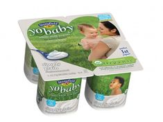 A great transition food from breast milk/formula to solids:  Simply Plain YoBaby organic yogurt