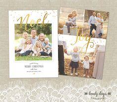 Weihnachtskarte Urlaub Foto Card Template für Fotografen sofort-DOWNLOAD