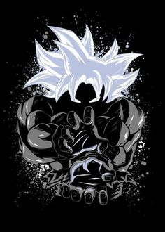 Dragon Ball Super - Goku Master Ultra Instinct Dragon Ball Super - Goku Master Ultra Instinct Gallery quality print on thick / metal plate. Dragon Ball Gt, Wallpaper Do Goku, Dragonball Wallpaper, Animes Wallpapers, Anime Art, Fan Art, Vampires, Artwork, Graphics