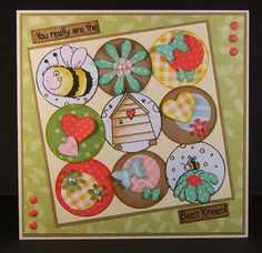 Little Claire's Designs: Bees Knees Card