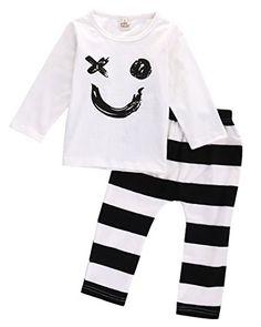 Newborn Baby Kids Boys Girls Tshirt Topslegging Pants Outfits Set