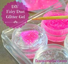DIY Fairy Dust Glitter Gel to help the little fairies sparkle.
