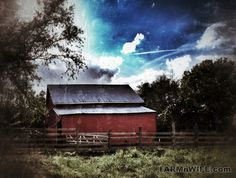 amazing what an I phone can do with a simple barn #farm #photography