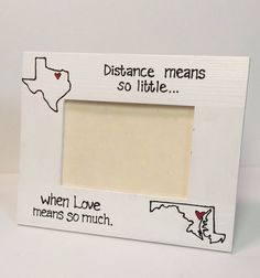 HORIZONTAL- State to State Picture Frame- Miss you gift, Going away, Long Distance, Moving- Fathers Day gift