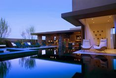 Calming poolside