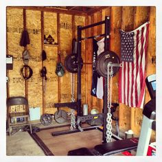 """This is my actual """"Home gym.""""  True story."""