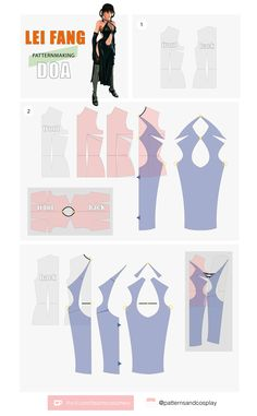 Doll Clothes Patterns, Clothing Patterns, Dress Patterns, Sewing Patterns, Cosplay Tutorial, Cosplay Diy, Cosplay Outfits, Diy Emo Clothes, Diy Fashion