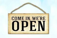 come in we are open business storefront wood sign mechanics garage ideas #plaques #signs (ebay link)