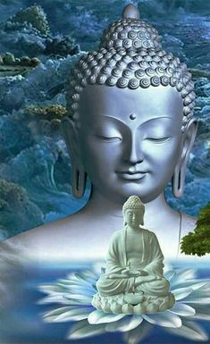 Buddha Purnima is the birthday of Gautam Buddha who was the founder of Buddhism. According to the belief, Lord Buddha is an incarnation of Lord Vishnu and Gautama Buddha, Amitabha Buddha, Buddha Buddhism, Buddhist Art, Buddha Kunst, Buddha Zen, Buddha Lotus, Buddha Tattoos, Hindu Tattoos