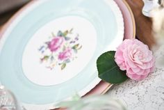 Vintage china from The Vintage Table Co