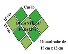 Aprende Ganchillo: Poncho verde manzana - Aprende ganchillo