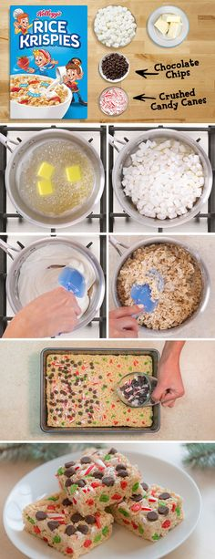It's not really season until the treats start showing up. These festive are the perfect way to kick off the with some and the ooey-gooey marshmallowy taste you love. Add even more festive charm with a box of red and green holiday Christmas Snacks, Holiday Treats, Holiday Recipes, Christmas Presents, Holiday Cookies, Family Recipes, Delicious Desserts, Dessert Recipes, Yummy Food