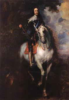 "Anthony van Dyck: ""Equestrian Portrait of Charles 1, King of England"", 1640. (Prado Museum, Madrid, Spain) https://www.museodelprado.es/"
