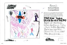 Sammi's School News Competition - Meredith age from New Zealand has created a flying skateboard themed headline for Sammi's School Newspaper. Thanks for sharing! School Newspaper, Newspaper Article, Thanks For Sharing, Toys For Girls, Skateboard, Competition, How To Become, Age, Skateboarding