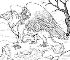 Desenho para colorir Animais fantasticos