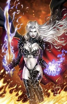 CC Lady Death EE pencils: J. Metcalf by ulamosart on DeviantArt Fantasy Art Women, Dark Fantasy Art, Fantasy Girl, Fantasy Characters, Female Characters, Comic Character, Character Design, Wolf, Black Cat Marvel