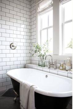 Trendy Bathroom Tub With Tile Joanna Gaines Ideas Clawfoot Tub Bathroom, Bathroom Renos, Bathroom Ideas, Peach Bathroom, Silver Bathroom, Bathroom Black, Bathroom Renovations, Bathroom Fixer Upper, Bathroom With Window