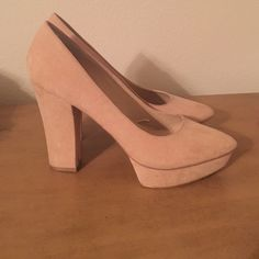 Forever 21 Nude Pumps Suede pumps! Size 10! Like New!  Forever 21 Shoes Heels
