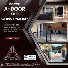 #Aluminium #Conversions #SlidingFoldingDoor #HomeRenovation #AluminiumWindows Delarey Welding ☎ 011 673 6603