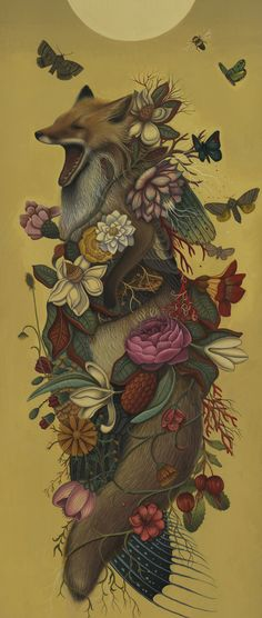 """Fox Confessor"" by Lindsey Carr (This brings to mind The Butterfly Ball)"