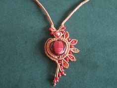 Macrame necklace by Ursulaa.deviantart.com on @deviantART