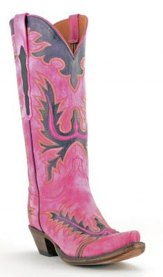 Womens Lucchese Classics Destroyed Goat Boots Hot Pink #Gc9503 via @Allen & Cheryl Smith Boots