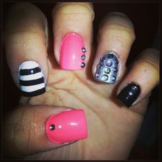 Nails art, beautiful #coral#fashionnails