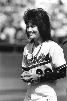 Throwback Thursday: Joan Jett at Opening Day 1989. Photo by Gene Sweeney Jr., Baltimore Sun.