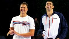 Ryan Lochte and Michael Phelps.