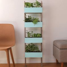 Repurpose that old ladder in your garage to create your very own herb garden! Check out the instructions for this, and other projects, in the My Garden app! Hydroponic Herb Garden, Diy Herb Garden, Herbs Garden, Garden Tips, Vegetable Garden, Culture D'herbes, Vertical Herb Gardens, Le Hangar, Old Ladder