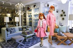 Barbie and Skipper browsing at the Adler Store...aren't they chic??