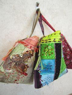Humbug Bags by Lynda Eaton. Canadian Artists, Artist Art, Pretty Flowers, Mothers, Fiber, Art Gallery, Gift Ideas, Wool, Fabric