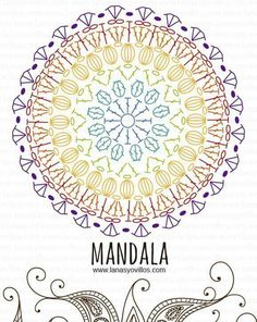 Pretty mandala doily graph for crochet fun