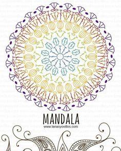 Pretty mandala doily graph for crochet fun