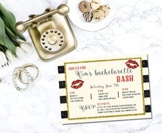 Check out this fun printable bachelorette bash invitation I found on Etsy!