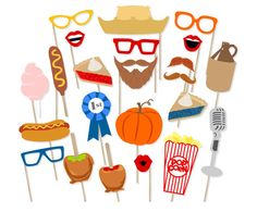 Printable Fall Festival Photo Booth Props  by PrintablePropShop